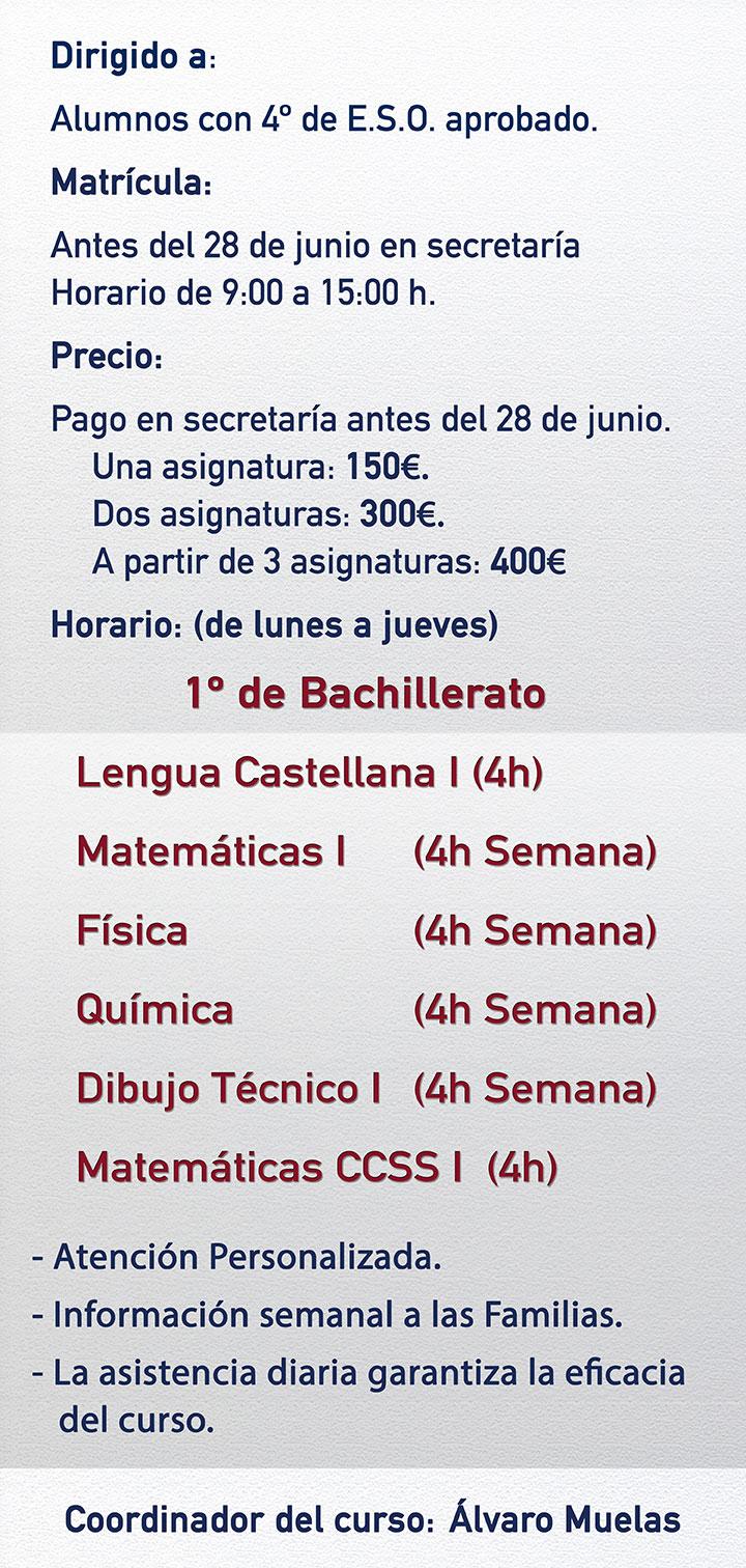 Iniciación a Bachillerato FF