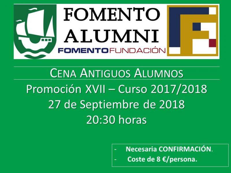 Cena promoción Alumni 2017/2018